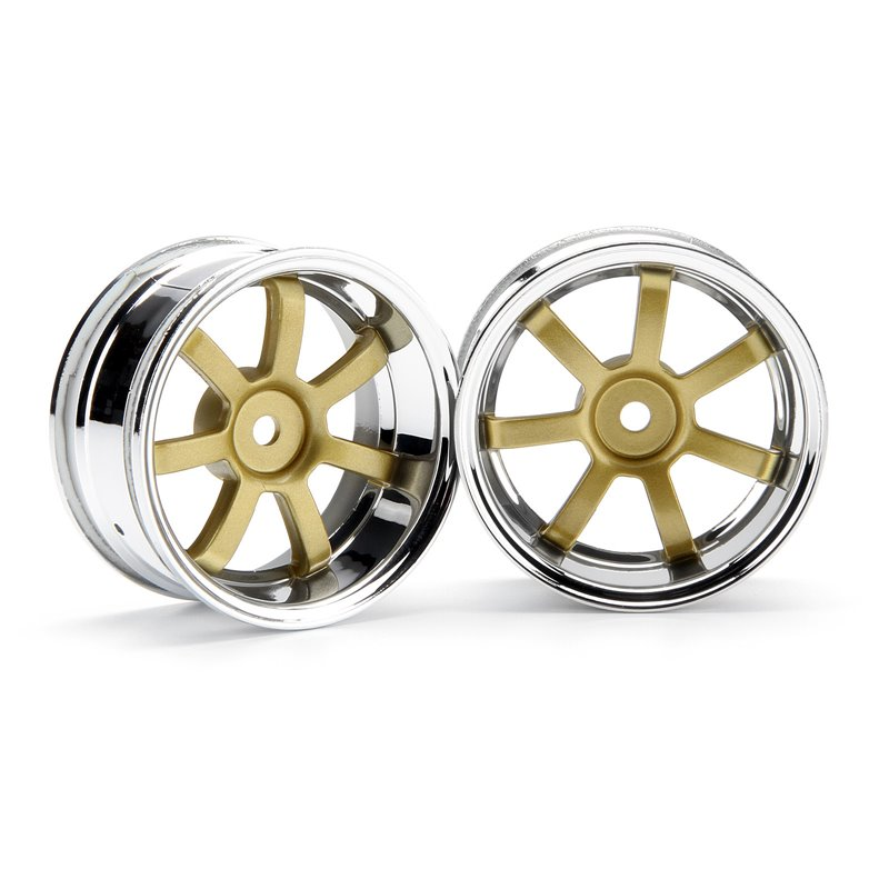 Hpi Racing  RAYS GRAM LIGHTS 57S-PRO CHROME/GOLD (6MM OFFSET) 3320
