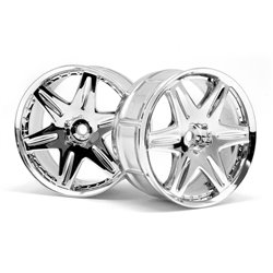 Hpi Racing  LP32 WHEEL WORK LS406 CHROME (2PCS) 3344