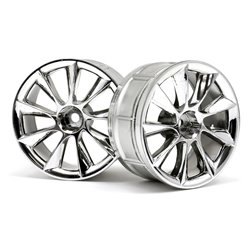 Hpi Racing  LP29 WHEEL ATG RS8 CHROME (2pcs) 33462
