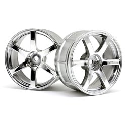 Hpi Racing  LP29 WHEEL YOKOHAMA AVS MODEL T6 CHROME (2PCS) 33465
