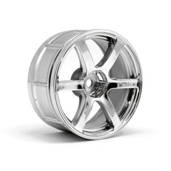 Hpi Racing  LP29 WHEEL YOKOHAMA AVS MODEL T6 CHROME (2PCS) 33465 2