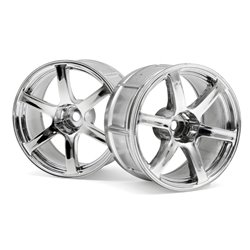 Hpi Racing  LP32 WHEEL YOKOHAMA AVS MODEL T6 CHROME (2PCS) 33466