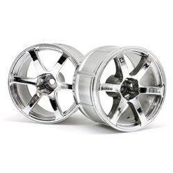 Hpi Racing  LP35 WHEEL YOKOHAMA AVS MODEL T6 CHROME (2PCS) 33467