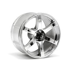 Hpi Racing  LP35 WHEEL YOKOHAMA AVS MODEL T6 CHROME (2PCS) 33467 2