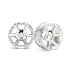 Hpi Racing  GT WHEEL SILVER (6MM OFFSET/2PCS) 33471