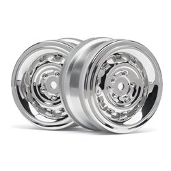Hpi Racing  VINTAGE WHEEL CC TYPE 26MM CHROME(0MM OFFSET/2PCS) 33472