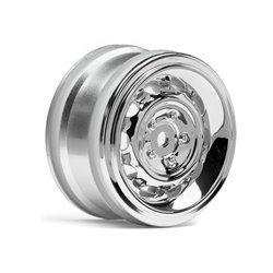 Hpi Racing  VINTAGE WHEEL CC TYPE 26MM CHROME(0MM OFFSET/2PCS) 33472 2