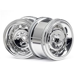 Hpi Racing  VINTAGE WHEEL CC TYPE 31MM CHROME(6MM OFFSET/2PCS) 33473