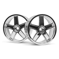 Hpi Racing  LP29 WHEEL MF TYPE CHROME (3MM OFFSET/2PCS) 33476