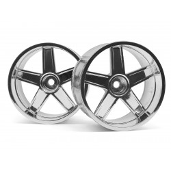 Hpi Racing  LP32 WHEEL MF TYPE CHROME (6MM OFFSET/2PCS) 33477