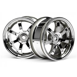Hpi Racing  MAG7 WHEELS 26MM CHROME (0MM OFF SET) 3574