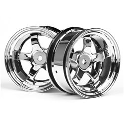Hpi Racing  WORK MEISTER S1 WHEEL 26mm CHROME (6mm OFFSET) 3592