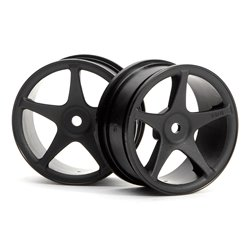 Hpi Racing  SUPER STAR WHEELS 26MM BLACK (1MM OFFSET) 3696