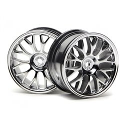 Hpi Racing  MESH WHEEL 26MM (CHROME)(1MM OFFSET) 3712