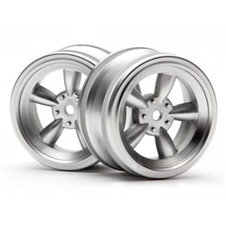 Hpi Racing  VINTAGE 5 SPOKE WHEEL 26MM MATTE CHROME(0MM OFFSET) 3815