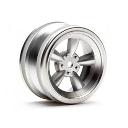 Hpi Racing  VINTAGE 5 SPOKE WHEEL 26MM MATTE CHROME(0MM OFFSET) 3815 2
