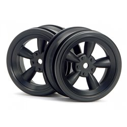 Hpi Racing  VINTAGE 5 SPOKE WHEEL 26MM BLACK (0MM OFFSET) 3816