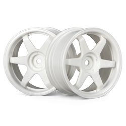 Hpi Racing  TE37 WHEEL 26MM WHITE(3MM OFFSET) 3840