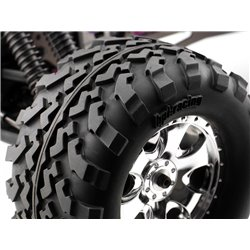 Hpi Racing  MOUNTED GT2 TYRE S COMPOUND ON WARLOCK WHEEL CHROME 4709