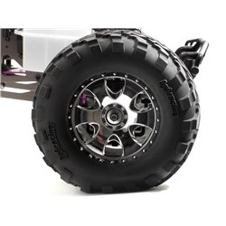 Hpi Racing  MOUNTED GT2 TYRE S COMPOUND ON WARLOCK WHEEL CHROME 4709 2