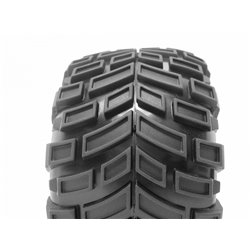 Hpi Racing  MOUNTED SUPER MUDDERS TIRE 165x88mm on RINGZ WHEEL SHINY CHROME 4726 2