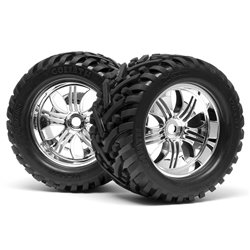 Hpi Racing  MOUNTED GOLIATH TIRE 178X97MM ON TREMOR WHEEL CHROME 4728