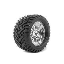Hpi Racing  MOUNTED GOLIATH TIRE 178X97MM ON TREMOR WHEEL CHROME 4728 2