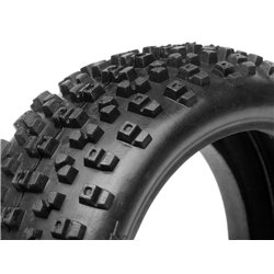 Hpi Racing  PROTO TIRE (RED/ 1/8 BUGGY) 67744