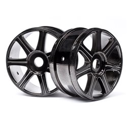 Hpi Racing  HB EDGE WHEEL (BLACK CHROME/2PCS) 67768