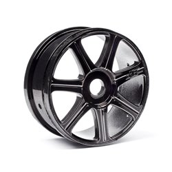 Hpi Racing  HB EDGE WHEEL (BLACK CHROME/2PCS) 67768 2