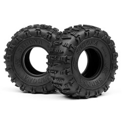 Hpi Racing  SEDONA TIRE (WHITE/ROCK CRAWLER/2PCS) 67918