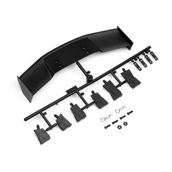 Hpi Racing  GT WING SET (TYPE D/10TH SCALE/BLACK) 85288