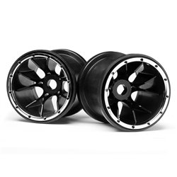 Maverick Black Wheels 2 Pcs (Blackout MT) MV24105
