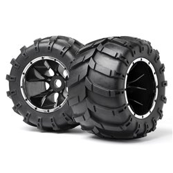 Maverick Mounted Wheels and Tyres 2 Pcs (Blackout MT) MV24107