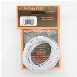 Gaugemaster GM 11W - WHITE WIRE 7 x 0.2mm 10 METRES