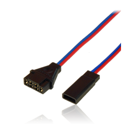 Adapter lead, MPX female / JR male, wire 0.34mm2, Silicon, lenght 10cm