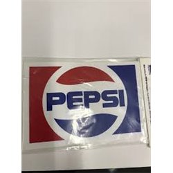PEPSI Logos sticker on printed vinyl  92mm x 59mm 1 per sheet 2 pack