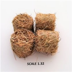 ROUND BALES HAY FOR SCALE 1:32 NATURAL PACK OF 2