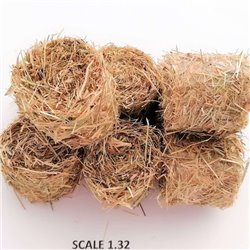 ROUND BALES HAY FOR SCALE 1:32 NATURAL PACK OF 5