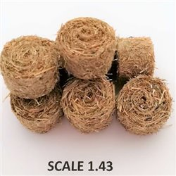 ROUND BALES HAY FOR SCALE 1:43 NATURAL PACK OF 2