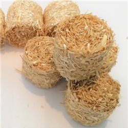 ROUND BALES STRAW FOR SCALE 1:43 NATURAL PACK OF 5
