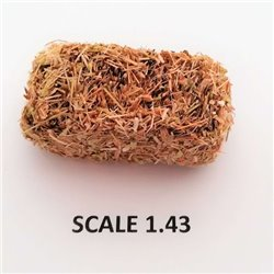 RECTANGULAR BALES HAY FOR SCALE 1:43 NATURAL PACK OF 2