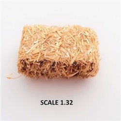 RECTANGULAR BALES STRAW FOR SCALE 1:32 NATURAL PACK OF 2