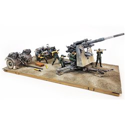 FORCES GERMAN 8.8CM 36/37 GUN AND FIGURES