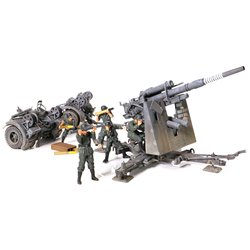 FORCES GERMAN 8.8CM 36/37 GUN AND FIGURES 2