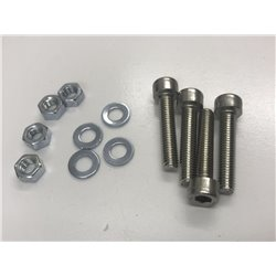 M3 X 25MM  Pan head Screws nuts and washers x 4