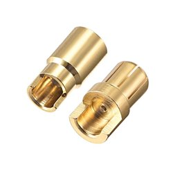 6 mm Gold Connectors 2 pairs