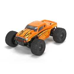 Ruckus 4wd Monster Truck: Org/Yel 1:18 RTR INT