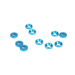 4mm Countersunk Washer, Blue (10)