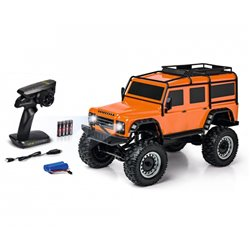 Carson 1:8 Land Rover Defender RTR orange